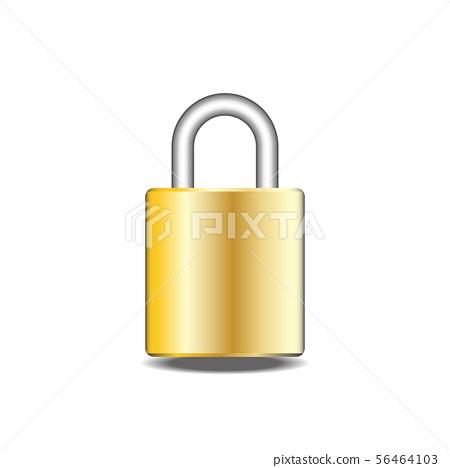 Closed padlock isolate 56464103