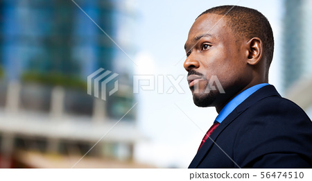Black male manager portrait 56474510