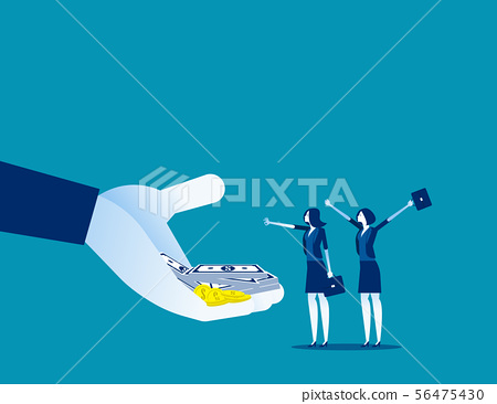 Company offer salaries to employees. Concept 56475430