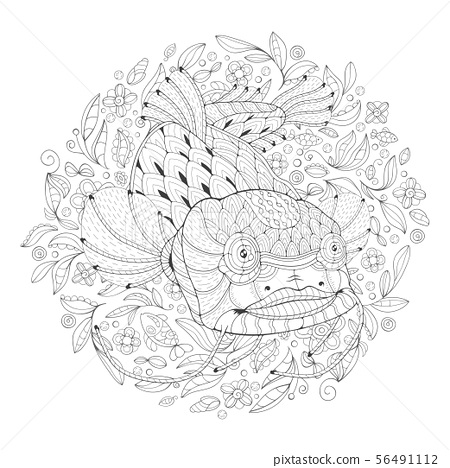 Coloring Page with Catfish 56491112