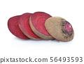 Slice fresh beetroot isolated on white background 56493593