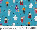Seamless pattern of character cartoon Halloween  56495800