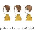 男性 - 面部表情(側面輪廓) 56498756