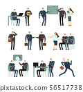 Working people vector cartoon characters. Employees women and men in office, coworkers for business 56517738