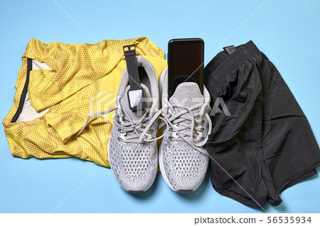 Running shoes and various accessories 56535934