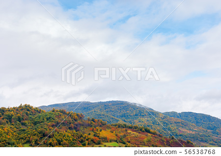beautiful countryside on a rainy day in mountains 56538768