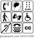 disability symbols and signs collection 56557309