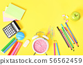 Fun scattered back to school stationary 56562459