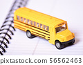 Close up of a toy school bus 56562463