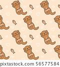 Cute otter Seamless Pattern Background 56577584