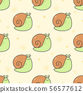 Cute snail Seamless Pattern Background 56577612