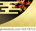 Autumn leaves hunting leaves Japanese pattern Japanese style autumn Japanese style pattern Japanese pattern 56578722