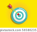 dartboard with arrow, business vision and target 56580235