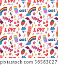 Summer pop art seamless pattern 56583027