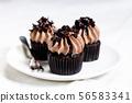 Homemade sweet chocolate cupcakes 56583341