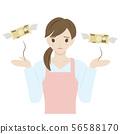 有付款困扰的家庭主妇 56588170