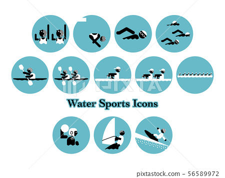 游泳和水上運動事件圖標集 56589972