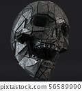 Science Fiction Fantasy Futuristic Human Skull 3D  56589990