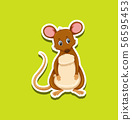 Sticker design with cute mouse 56595453