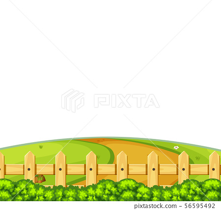Landscape background with road on small hill 56595492