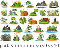Large group of isolated objects theme - nature 56595540