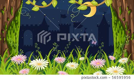 Background design of landscape with garden at 56595956