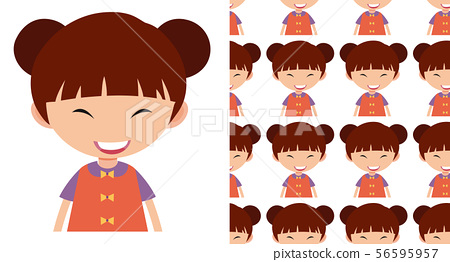 A seamless pattern on white of simple kid 56595957