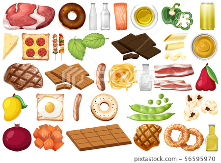 Set of isolated objects theme - food 56595970