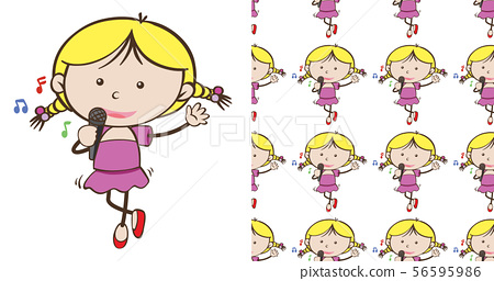 A seamless pattern on white of simple kid 56595986