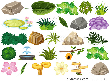 Set of isolated objects theme - gardening 56596047