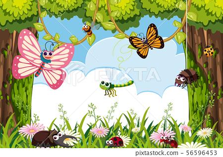 Bugs in jungle scene 56596453