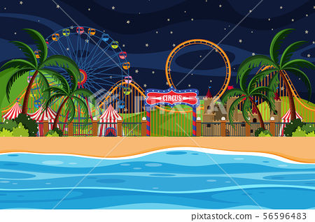 An outdoor scene with circus 56596483