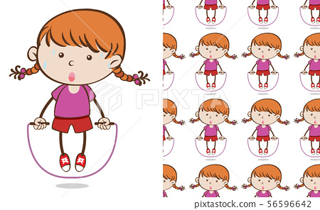 A seamless pattern on white of simple kid 56596642