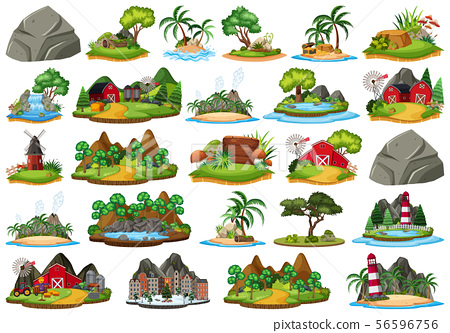 Set of different plants and landscapes 56596756