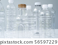 Plastic bottles in various shapes and sizes 56597229