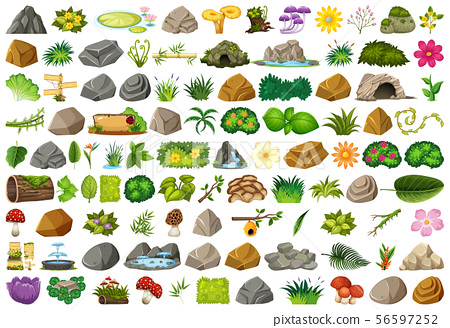 Set of isolated objects theme - gardening 56597252