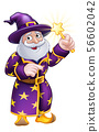 Wizard Cartoon Character Pointing 56602042