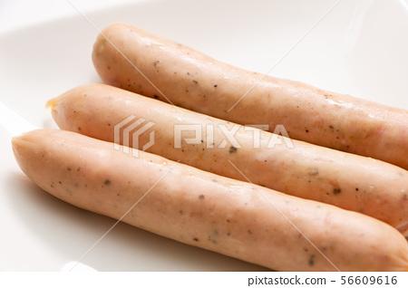 Wiener sausage (pork sausage with black pepper). 56609616