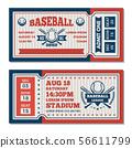Tickets design template at baseball tournament 56611799