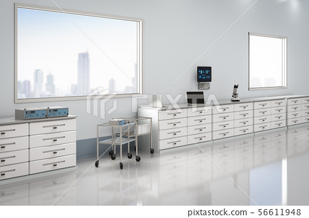 laboratory interior with accessories 56611948