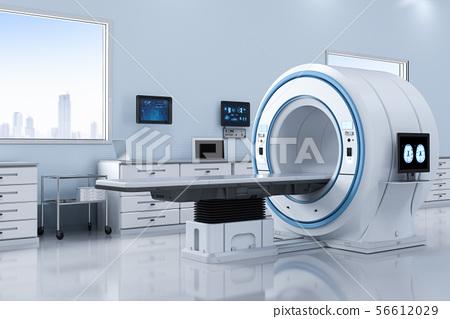 lab with mri scan machine 56612029