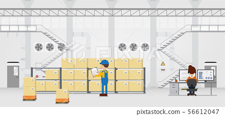 Work process in warehouse 56612047