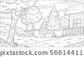 Coloring Book Landscape 56614411