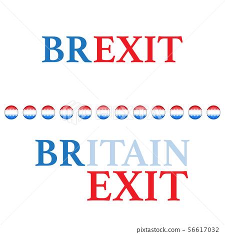 Brexit text background different colors 56617032