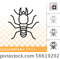 Termite simple black line insect bug vector icon 56619202