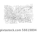 Old european street, sketch for your design 56619894