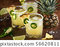 Pineapple Margarita with Jalapeno 56620811