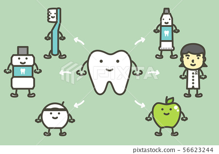 set of good for teeth, tooth and best friends 56623244
