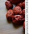 한국의 음식 말린 대추  56623481