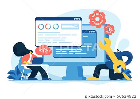 Back end development concept vector illustration 56624922
